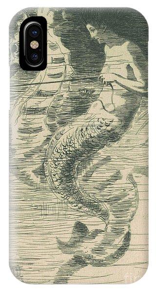 Seahorse iPhone Case - The Mermaid by Frederick Stuart Church