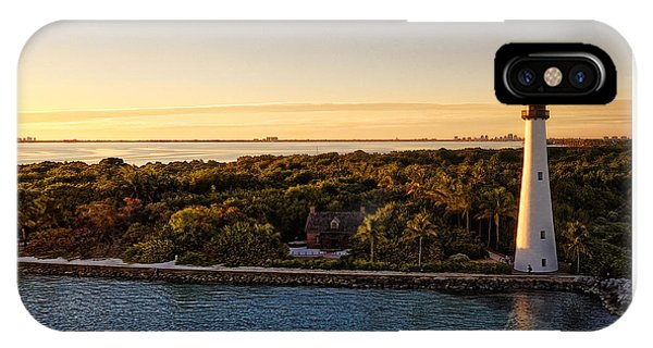 IPhone Case featuring the photograph The Miami Lighthouse by Lars Lentz