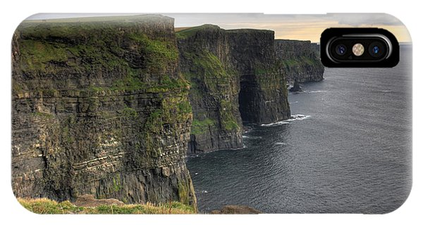 IPhone Case featuring the photograph The Mighty Cliffs Of Moher In Ireland by Pierre Leclerc Photography