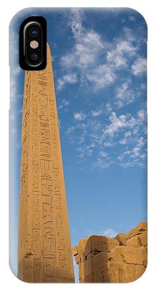 The Obelisk Of Queen Hatshepsut In Karnak Temple IPhone Case