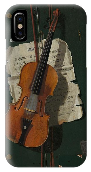 Violin iPhone X / XS Case - The Old Violin by Mountain Dreams