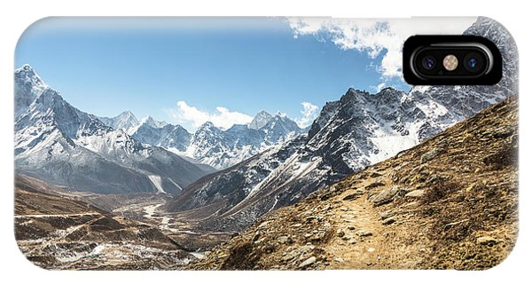 The Path To Cho La Pass In Nepal IPhone Case