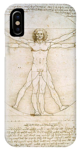 Nudes iPhone X Case - The Proportions Of The Human Figure by Leonardo da Vinci