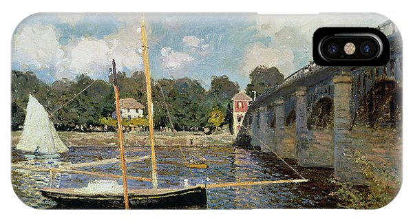 Boats iPhone Case - The Seine At Argenteuil by Claude Monet