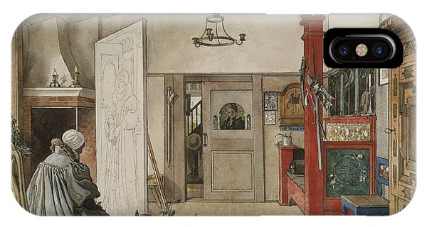 Art And Craft iPhone Case - The Studio. From A Home by Carl Larsson