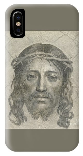 Shrouds iPhone Case - The Sudarium Of Saint Veronica by Claude Mellan