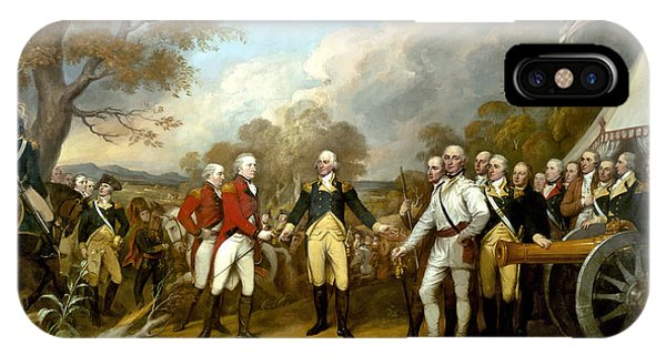 American iPhone Case - The Surrender Of General Burgoyne by War Is Hell Store