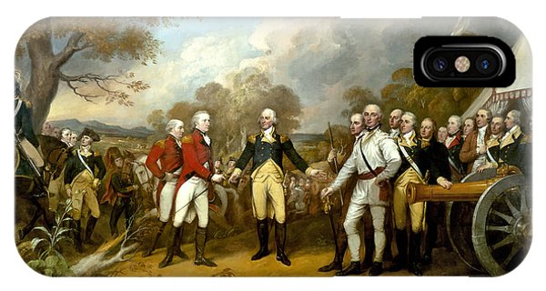 Hero iPhone Case - The Surrender Of General Burgoyne by War Is Hell Store