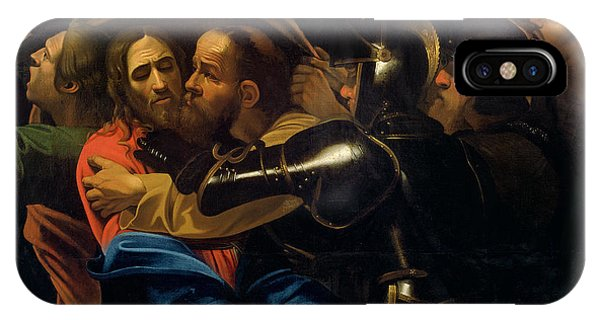 Life Of Christ iPhone Case - The Taking Of Christ by Michelangelo Caravaggio