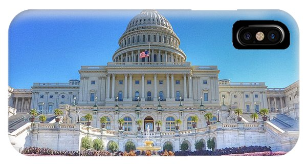 Capitol Building iPhone Case - The Us Capitol Building - Washington D.c. by Marianna Mills