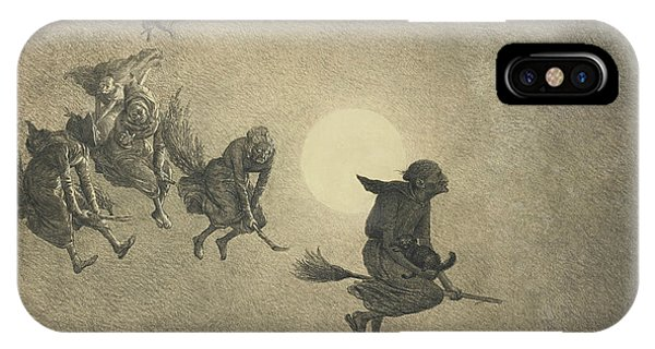 The Witches' Ride IPhone Case