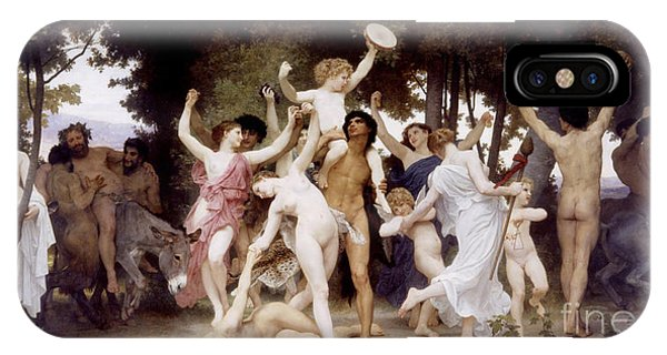Centaur iPhone Case - The Youth Of Bacchus by William-Adolphe Bouguereau