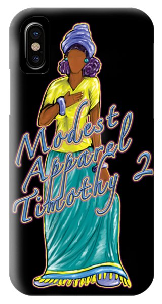 1 Timothy 2vs.9 Modest Apparel IPhone Case