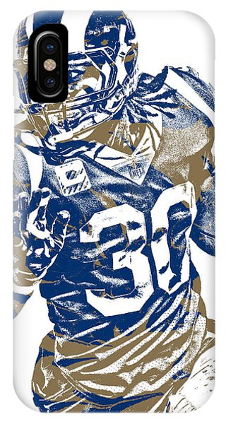 Nfl iPhone Case - Todd Gurley Los Angeles Rams Pixel Art 22 by Joe Hamilton