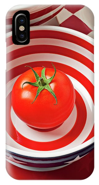 Tomato In Red And White Bowl IPhone Case