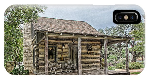 Town Creek Log Cabin IPhone Case
