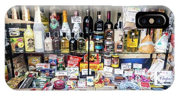 Traditional Spanish Deli Food Shop Display In Santiago De Compos IPhone Case