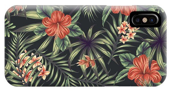 Leave iPhone Case - Tropical Leaf Pattern 5 by Stanley Wong