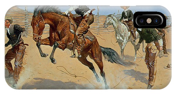 Wild Horses iPhone Case - Turn Him Loose by Frederic Remington