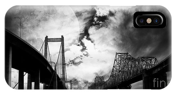 Two Bridges One Moon IPhone Case
