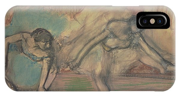 Pastel Pencil iPhone Case - Two Dancers Resting by Edgar Degas
