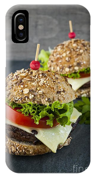 Lettuce iPhone Case - Two Gourmet Hamburgers by Elena Elisseeva