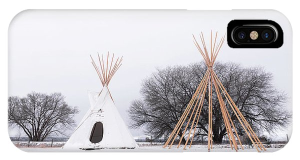 Two Tipis IPhone Case