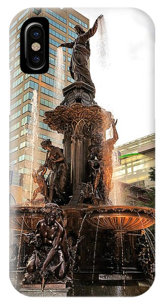 Tyler Davidson Fountain IPhone Case