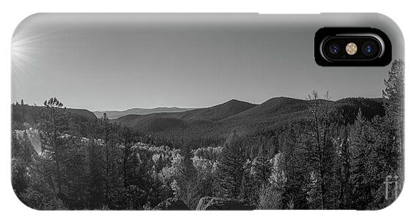 Bear Creek iPhone Case - Tyndall Creek In The Rocky Mountains Bw  by Michael Ver Sprill