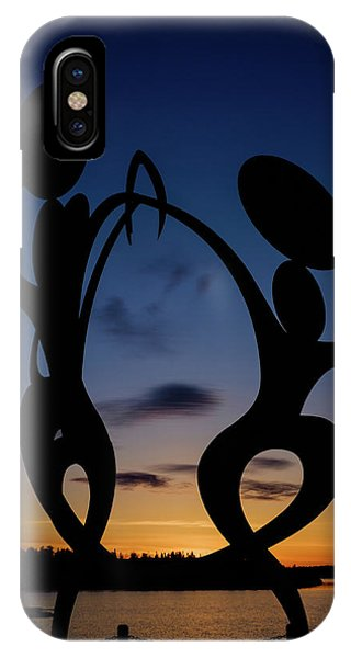 United In Celebration Sculpture At Sunset 5 IPhone Case