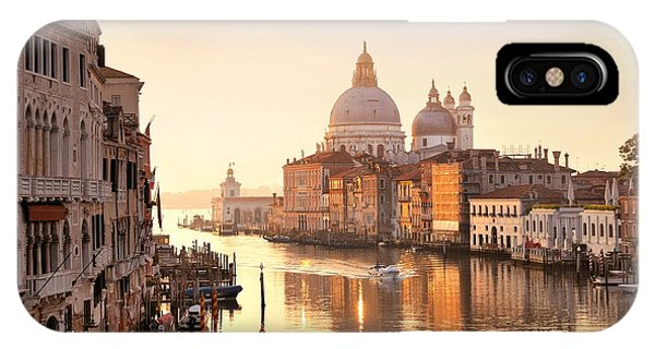 IPhone Case featuring the photograph Venice Grand Canal View by Songquan Deng