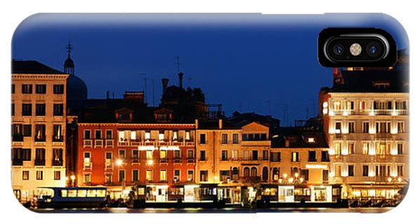 IPhone Case featuring the photograph Venice Skyline At Night Panorama by Songquan Deng