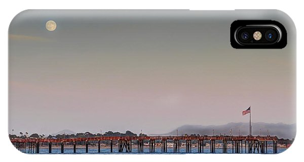 Ventura Pier Moonrise IPhone Case
