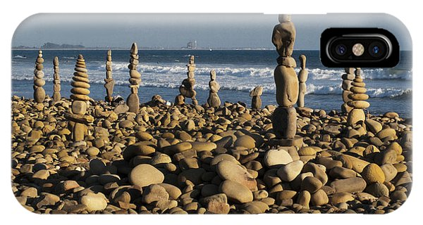 Ventura River Rock Art IPhone Case