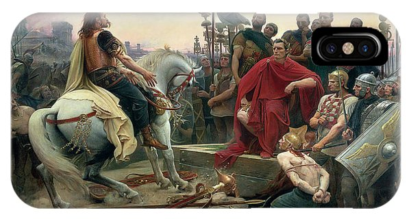 Vercingetorix Throws Down His Arms At The Feet Of Julius Caesar IPhone Case