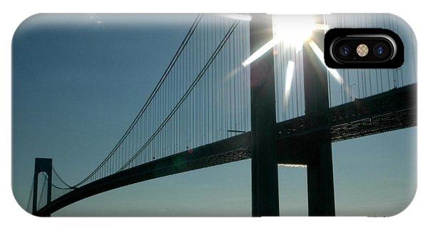 Verrazano Bridge Starburst IPhone Case
