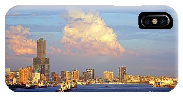 View Of Kaohsiung City At Sunset Time IPhone Case