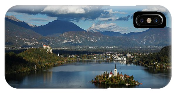 View Of Lake Bled From Ojstrica IPhone Case