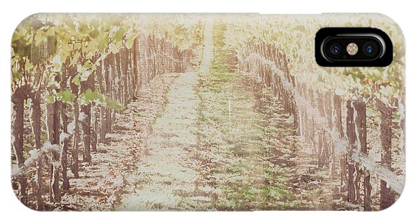 Vineyard In Autumn With Vintage Film Style Filter IPhone Case