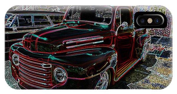 Vintage Chevy Truck Neon Art IPhone Case