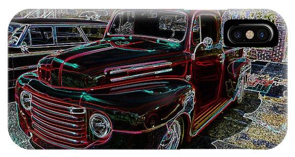 Vintage Chevy Truck Neon Art IPhone Case