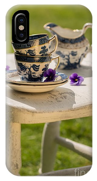 Saucer iPhone Case - Vintage Teacups by Amanda Elwell
