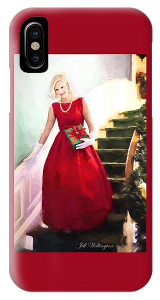 Vintage Val Home For The Holidays IPhone Case