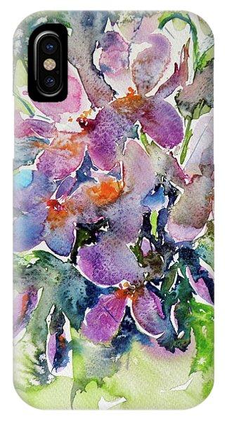 Violet iPhone Case - Violet by Kovacs Anna Brigitta