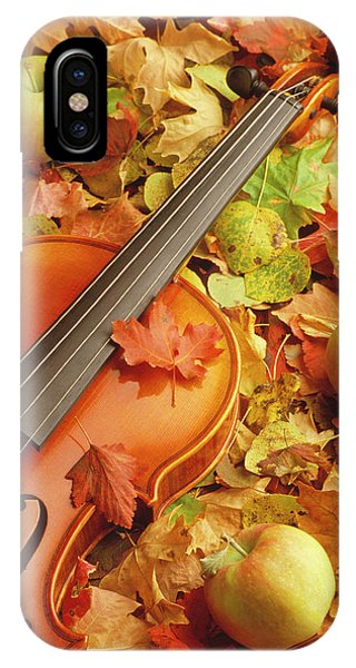 Violin With Fallen Leaves IPhone Case