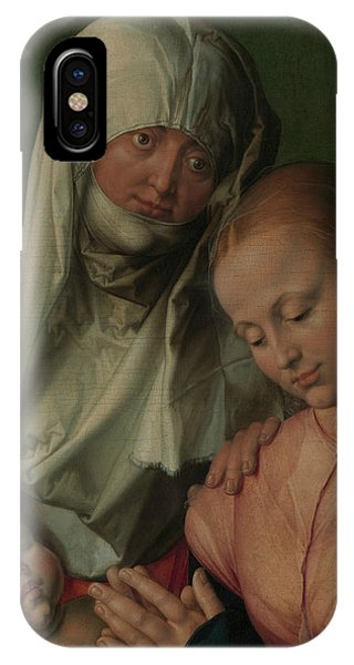 Albrecht Durer iPhone Case - Virgin And Child With Saint Anne by Albrecht Durer