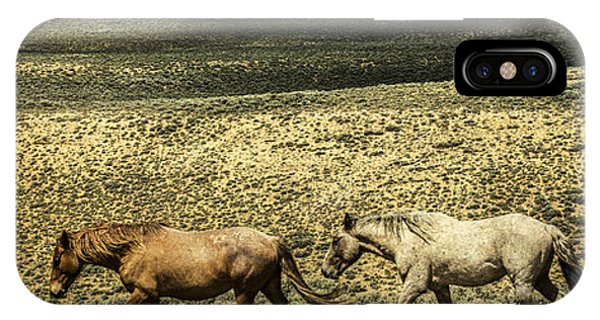 Walking The Line At Pilot Butte IPhone Case