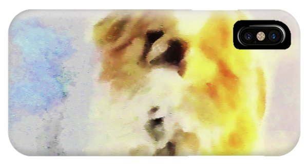 IPhone Case featuring the photograph Wasabi, Dog Painted. by Roger Bester