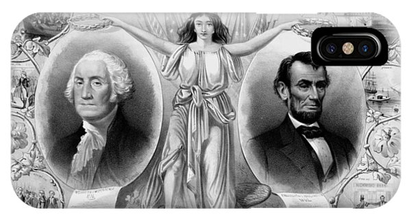 United States Presidents iPhone Case - Washington And Lincoln by War Is Hell Store