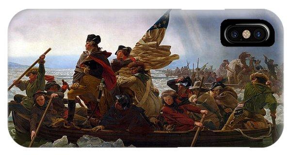 George Washington iPhone Case - Washington Crossing The Delaware by Emanuel Leutze